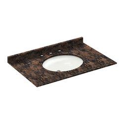 LessCare - 37x22 Baltic Brown Granite Vanity Countertops - 8 Faucet Spread - *Condition: New
