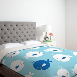 DENY Designs - DENY Designs Khristian A Howell Baby Beach Bum 2 Duvet Cover Multicolor - 12995- - Shop for Duvets from Hayneedle.com! Day or night the DENY Designs Khristian A Howell Baby Beach Bum 2 Duvet Cover will have your mini adventurer going on exciting journeys to far off places. This light blue whale designed duvet cover is made of ultra-soft 100 percent polyester microfiber that is machine washable for your convenience. Available in your choice of size this cozy duvet cover features small metal snaps that ensure a secure closure to any bed.About DENY DesignsDenver Colorado based DENY Designs is a modern home furnishings company that believes in doing things differently. DENY encourages customers to make a personal statement with personal images or by selecting from the extensive gallery. The coolest part is that each purchase gives the super talented artists part of the proceeds. That allows DENY to support art communities all over the world while also spreading the creative love! Each DENY piece is custom created as it's ordered instead of being held in a warehouse. A dye printing process is used to ensure colorfastness and durability that make these true heirloom pieces. From custom furniture pieces to textiles everything they make is unique and distinctively DENY.