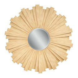 Bassett Mirror - Bianco Sunburst Toasted Blonde Wall Mirror - Bianco Sunburst Toasted Blonde Wall Mirror by Bassett Mirror