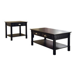 Winsome - Winsome Timber Coffee Table and End Table Set in Black Beechwood - Winsome - Coffee Table Sets - 2023820124