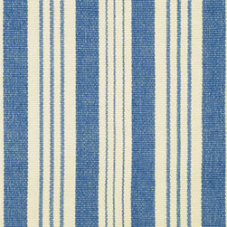 Staffordshire Stripe Woven Cotton Rug - This classic striped rug adds a coastal style base to any room in your home. Available in sizes from a 2 by 3 for the kitchen sink to 9 by 12 for living room coverage, you may want more than one.
