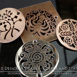 Designer Drains Collection - Different metals look great together, I was always partial to raw copper and the patina which is created over time. Although, I also enjoy the look of brushed copper and the very sharp and clean look of polished stainless steel.