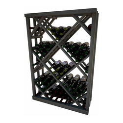 Wine Cellar Innovations - Open Diamond Bin; Vintner: Prime Mahogany, Light Stain - 4 Foot - The Vintner Series Open Diamond Bin Wine Rack has open sides and cross intersection inserts that allow for this wine rack kit to be a more affordable option than the Solid Diamond Bin, but achieves the same wine storage look. Purchase two to stack on top of each other to maximize the height of your wine storage. Moldings and platforms sold separately. Assembly required.