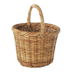Eco Displayware - Long Handle Kindling Rattan Basket in Natural - Great for closet, bath, pantry, office or toy and game storage. Earth friendly. 19 in. L x 16 in. W x 22 in. H (24.32 lbs.)These natural colored baskets add warmth and charm and keep you organized.