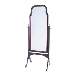 Cooper Classics - Queen Anne Cheval in Cherry - Made of Birch. Cherry finish w beveled mirror. 22.5 in. W x 63 in. H