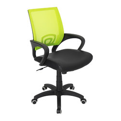 Lumisource - Officer Office Chair, Lime Green - 23 L x 19 W x 36 - 40 H