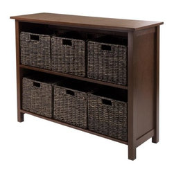 Winsome Wood - Granville 2-section wide Storage Shelf, Set of 7 - Our Granville, 2-section wide Storage Shelf is perfect to store and organize your goodies. This set comes with shelf that is made from combination of solid and composite wood.