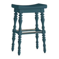 Stanley Furniture - Coastal Living Retreat-5 O'Clock Somewhere Bar Stool - Island-inspired attitude with details like double-lathed legs, arched seat, and foot rest make this stool anything but ordinary.