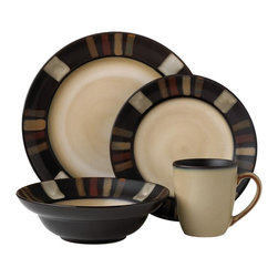 Pfaltzgraff - Pfaltzgraff Tahoe 16-piece Dinnerware Set - This 16-piece stoneware dinnerware set includes place settings for four people,providing everything you'll need for an intimate gathering. Safe for both the dishwasher and the microwave,this set makes cleaning up and heating up a breeze.