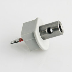 Klus - Klus-1435 Electrically Conductive End Cap for Klus PDS-O - Use the electrically conductive end cap to create a connection between the power source and diodes in a fixture. These unique connectors enable you to mount fixtures using stainless steel wire for an aesthetic finish. Compatible with Klus PDS-O Round Aluminum Channel (Anodized).