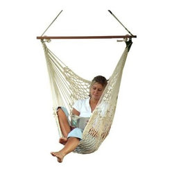 Pawley's Single Cotton Rope Swing - If you're looking for a rope swing that will give you every single moment of a dreamland, you can't go wrong with the Pawley's Single Cotton Rope Swing. Made from sturdy and comfortable 3-ply cotton rope, this rope hammock swing is easy to set-up at the base of a couple trees, amid a patio overhang, or with a hammock stand. Built for a single person, this hammock shows what relaxation is all about.