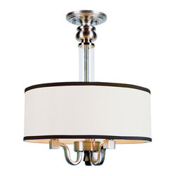 "Trans Globe Lighting - Tgl Metropolitan 15"" Wide Semi-Flushmount in Brushed Nick -"