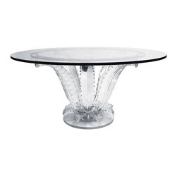 The Incredible & Renowned Cactus Table by Lalique of France - Height: 28 in. (71.12 cm)