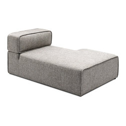 Bryght - Acura Right Sectional Chaise - The Acura Collection looks perfect in a modern home with its firm yet comfortable foam filling and sophisticated grey upholstery. The Acura can be easily customized to your needs which makes it great for small and large spaces alike.