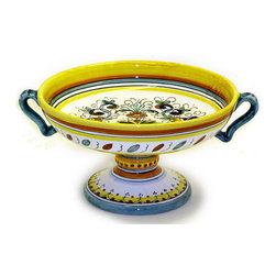Artistica - Hand Made in Italy - Deruta: Footed Fruit Cup 2/H - Detura Classic: