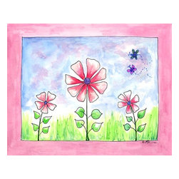 Oh How Cute Kids by Serena Bowman - Yellow Daisy, Ready To Hang Canvas Kid's Wall Decor, 24 X 30 - Daisy, Daisy, give me your answer, do.  I'm half crazy all for the love of you!