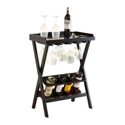 Holly & Martin - Holly & Martin Santa Barbara Wine Table - You just became a sommelier in your own space — or at least look that way to friends, family and guests when you're entertaining. This extraordinary table keeps all your wine essentials nearby, in one space-saving station.