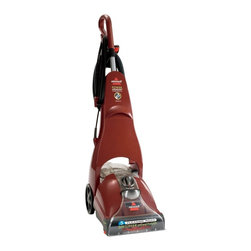 Bissell - Bissell PowerSteamer PowerBrush Select Deep Cleaning Carpet Cleaner 1623 Multico - Shop for Cleaning Products from Hayneedle.com! Dirt can get ground down into your carpet's fibers when you walk across it; the Bissell PowerSteamer PowerBrush Select Upright Vacuum 1623 will remove that deep-down dirt preventing excessive wear and tear on your carpet. With a ready-to-use hose two-tank system and huge 15-inch cleaning path it's also an easy and convenient way to keep your carpet clean.Additional Features:Overall dimensions: 19W x 11D x 44H inchesExtends life of carpet by removing deep-down dirtBuilt-in measuring cup2-in-1 tank never allows dirty and clean water to mixComfortable handle; easy-to-maneuver wheelsQuick-release cord hooks25-foot cord allows more cleaning spaceTank capacity: .75 gal.Weight: 17.5 lbs.1 year limited warrantyAbout BissellMelville Bissell patented the BISSELL carpet sweeper in 1876 once of the first mechanical sweepers ever conceived. Shortly after he built the first Bissell manufacturing plant in Michigan and began assisting Americans and the world suck it up and tackle the confounding and unhealthy problem of dust-laden carpets and floors. Remaining a technology and trend innovator in the field of home cleaning solutions for the next 100+ years Bissell remains committed to bringing you the most advanced effective and practical solutions for keeping your home clean.