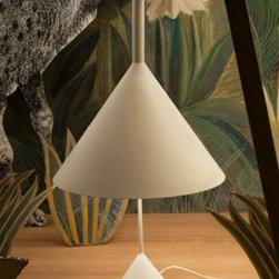 Modern Funnel Table Lamp in Baking Finish -
