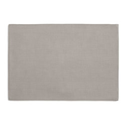 Slate Gray Fine-Woven Linen Custom Placemat Set - Is your table looking sad and lonely? Give it a boost with at set of Simple Placemats. Customizable in hundreds of fabrics, you're sure to find the perfect set for daily dining or that fancy shindig. We love it in this medium gray super soft lighweight linen blend with the finest texture.
