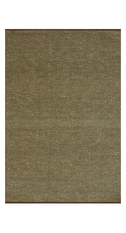 """Loloi Rugs - Loloi Rugs Green Valley Collection - Brown, 3'-6"""" x 5'-6"""" - Hand woven in India of seagrass and cotton, the Green Valley Collection breathes organic beauty in the floors of any home with these solid and striped designs. And with a raw textural surface, Green Valley adds a distinctly natural vibe to the room."""