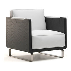 Kubo Lounge Chair by Kubikoff - The Kubo Lounge Chair is uniquely composed of loose parts, with the wooden frame and cushions available in lots of different versions. It's easy to fall for this stylish chair.