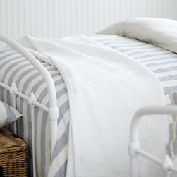 Ballard Designs - Riviera Linen Duvet - Pair our Riviera Duvet and Sham. Duvet has hidden button closure. Sham has envelope closure. The crisp stripes were inspired by the colorful beach canopies of the French Riviera. Duvet and sham reverse to a different stripe, in a different color, so you can change your look as easily as making the bed. Hand finished in 100% linen, so it will get softer with every wash.Riviera Linen Stripe Bedding: . . .
