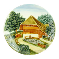 EuroLux Home - Consigned Vintage German Majolica Plate Charger - Product Details