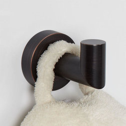 Bristow Robe Hook - Bring more organization to your bathroom or linen closet with the Bristow Collection Robe hook. This bathroom Bath Accessories made of solid brass for durability.