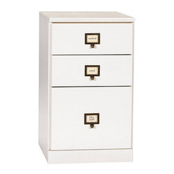 """Ballard Designs - Original Home Office 3-Drawer File Cabinet - Around here, we call it the """"Original Home Office"""" because we invented this adaptable, modular concept more than a decade ago. Every piece is designed to work with every other, so you can customize your office to suit your particular needs and decor. Our 3-Drawer File Cabinet features two supply drawers on top with a bottom file drawer. Crafted with solid wood frames and fine veneers."""