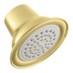 """Moen - Moen 6303P Moen Single-Function 3-3/8"""" Diameter Showerhead - From finishes that are guaranteed to last a lifetime, to faucets that balance your water pressure perfectly, the Moen series sets the standard for exceptional beauty and reliable, innovative design."""