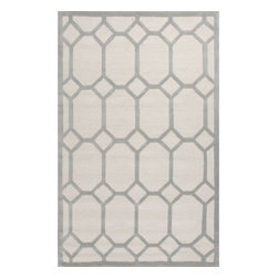 Jaipur Rugs - Jaipur Rugs Hand-Tufted Looped & Cut Wool Ivory/Gray Area Rug, 5 x 8ft - An urban contemporary styled rug collection that updates your living area with bold patterns. Ranging from soft neutrals to strong colors these rugs could live in any home.