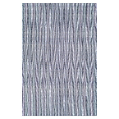 nuLOOM - nuLOOM  Hand Loomed Chalet Herringbone Cotton Rug, Navy, (8' X 10') - Material: 100% Cotton