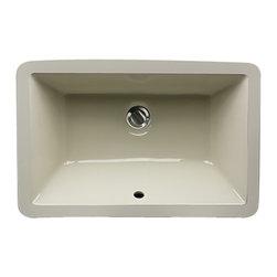 "Nantucket Sinks - Nantucket Sink UM-19x11-B Ceramic Lavatory Sink - Nantucket Sinks UM-19x11-B - 19"" x 11"" Undermount Ceramic Rectangle Bathroom Sink in Bisque. This sink has a 1.75"" drain diameter."