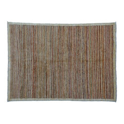 1800-Get-A-Rug - Oriental Rug Gabbeh Peshawar Striped Hand Knotted Rug Sh7623 - About Modern & Contemporary