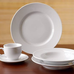 Great White Dinnerware, 20-Piece Set - Our Great White Dinnerware is essential for everyday use and beautiful enough for any occasion. It's generously sized to make a statement, and pairs easily with all colors and textures. Made of high-fired, hand-glazed porcelain. 16-piece set includes 4 dinner plates, 4 salad plates, 4 bowls and 4 mugs. 20-piece set includes 4 dinner plates, 4 salad plates, 4 bowls, 4 mugs and 4 saucers. Microwave and dishwasher safe.
