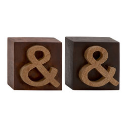 Distinct and Different Wood Block Sign, Set of 2 - Description: