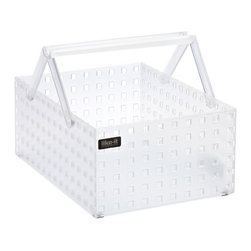 Like-it Stack & Carry Caddy - This shower caddy is helpful because it's transparent, stackable and portable. Get a few so that your college student can use them as portable storage for towels, shower items, makeup or toiletries.