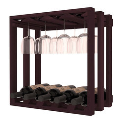Wine Racks America - Wine Storage Stacking Stemware Cube in Redwood, Burgundy Stain - Designed to stack one on top of the other for space-saving wine storage our stacking cubes are ideal for an expanding collection. Use as a stand alone rack in your kitchen or living space or pair with the 20 Bottle X-Cube Wine Rack and/or the 16-Bottle Cubicle Rack for flexible storage. Choose From optional Industry Leading Quality Eco-Friendly Stains Paired with an Immaculate Satin Finish. Each have custom finishes and are professionally stained to order, so please allow 2-3 weeks after your purchase for your order to be shipped. Store up to 5 Bottles of Wine Plus 8 wine glasses!