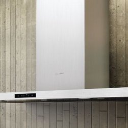 """Zephyr Duo 36"""" Wall Hood - A very low profile wall mount hood, which appeals but may have lower CFM's, making it necessary to install on an exterior wall with a small duct run to the outside. We have a similar unit which works very well."""