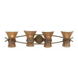 Triarch International - Triarch 23102 Bali Weathered Bronze 4 Light Vanity - Triarch 23102 Bali Weathered Bronze 4 Light Vanity