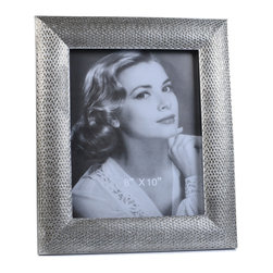 "Concepts Life - Concepts Life Photo Frame  Loving Link  8x10"" - Inspired by fine jewelry, these silver Loving Link frames will add sparkle and a hint of romance to your photograph collection. Ideal for your home as well as for your loved ones!  Modern home accent Contemporary silver picture frame Beautiful and elegant home accent Rectangular photo frame Made of polyresin Textured glossy finish Easel back for horizontal or vertical display Various sizes available Holds 8 x 10 in. size photo Dimensions: 11""w x 13""h x 1""d Weight: 3 lbs"