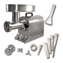 Weston - Pro-Series by Weston #22 Stainless Steel Electric Meat Grinder / Stuffer - Stop overpaying for lean ground meat with this great Weston electric meat grinder. You can buy lean meat when it is on sale and grind it yourself at home. You can grind over 10 pounds of meat per minute and it disassembles for quick cleaning.
