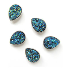Pretty Little Things - Drusy Bluesy Magnets Set of 5 - These gorgeous tear drop magnets will have you crying drusy!