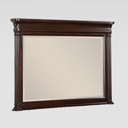 Horchow - East Bridge Mirror - Clean and sophisticated, this dynamic bedroom furniture features raised panels, reeded columns, perfectly tapered legs, and satin-nickel finished knobs. With a choice of storage bed or panel bed and an assortment of accent pieces, configuring the perfec...