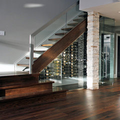 modern wine cellar by NathalieTremblay - Atelier Cachet