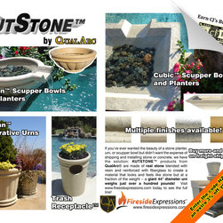 Garden and yard - Kutstone products look like real stone because they're made with real stone, blended with resin and reinforced with fiberglass!  Use the coupon code HZ3 when you call to order and save 3%!