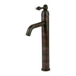 Tru Faucets - Single Handle Bathroom Vessel Faucet - Solid Brass Construction. Drip Free Ceramic Disc Cartridges. Available Finishes: Oil Rubbed Bronze. For Vessel Sinks With or Without Overflow. Number of Handles: 1. Faucet Weight: 3.6 LBS. Flow Rate: 2.2 GPM. Valve Type: Ceramic Disc. Installation Type: Deck-Mount. Faucet Holes: 1. Eschutcheon: None. Connections: Standard US Plumbing Connections. Drain not included. NSF/ANSI, CUPC, ADA, Low Lead Compliant (California AB-1953). Warranty: Limited Lifetime. Overall Height: 14.88 in.. Spout Height: 10.91 in.. Spout Reach: 5.91 in.. Maximum Deck Thickness: 2.25 in.. Mounting Shank Length: 2.5 in.. Mounting Shank Diameter: 1.25 in.Tru Faucets by Premier Copper Products announces the first faucet line made especially for copper sinks. Faucets come in a perfect matching Oil Rubbed Bronze finish for any copper sink. Although these faucets were made with copper sinks in mind, they can also be used with any other type of sink such as porcelen, stone, glass, stainless steel, etc.