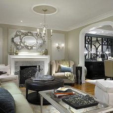 Family Room by A. Rejeanne Interiors