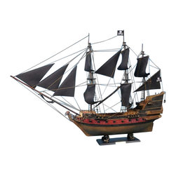 """Handcrafted Model Ships - Captain Kidd's Adventure Galley Limited 36"""" - Black Sails - Sold Fully Assembled Ready for Immediate Display -Not a Model Ship Kit"""